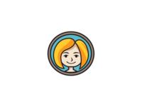 girl with yellow hair logo