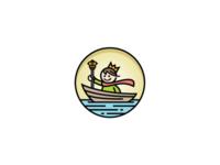 Little King on The Boat Logo