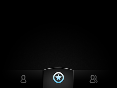 Glowing star iphone ios navigation tab bar