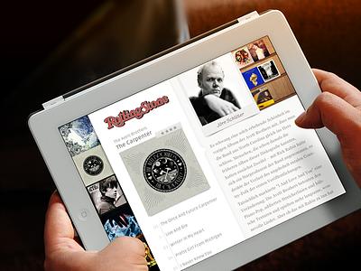Rolling Stone music magazine ipad