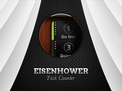 EISENHOWER: Task Counter app eisenhower iphone user interface preview