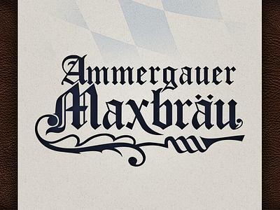 Ammergauer Maxbräu logo brewery