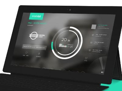 RadioM ui userinterface app ux w8 windows8 radio music hungary surface player