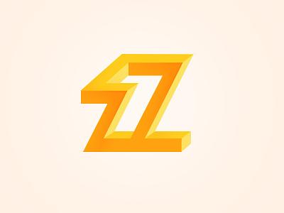 letter  z z logo letter