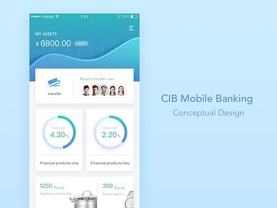 Mobile Banking Conceptual Design ui app banking mobile