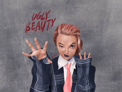 ugly beauty illustration