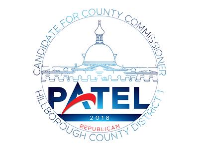 PATEL|2018 Logo brand identity politics logo design