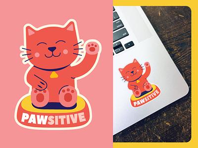 Sticker for Cat lovers stickermule sticker design sticker illustration design