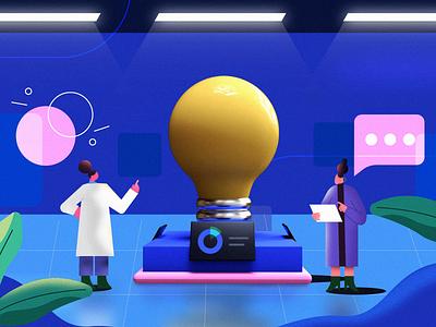 Busy lab 3d vector design designer illustration