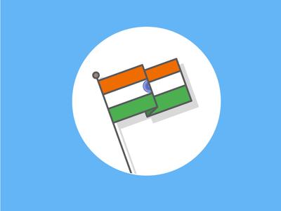 Indian National flag  art strokes stoked illustration design graphic desi india indian flag