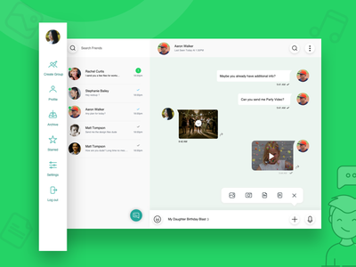 Chat Web web redesign watsapp chatui design ux ui chat