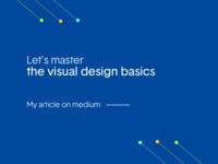My medium article on visual design