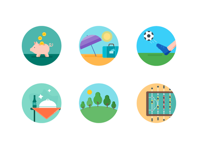 Fancy flat icons iconset icons flaticons