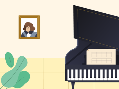 Lonely piano illustrations design instrumentals musical piano