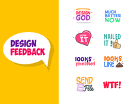 imessage sticker pack for designer's feedback