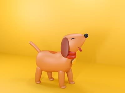 puppy cinema4d illustration design