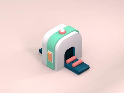 Machine cinema4d illustration