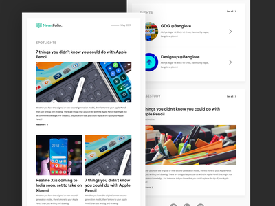 Minimal newsletter design newsupdate ueno newsletter