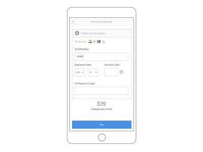 Day 2 - Credit Card Checkout 002 credit card ui dailyui