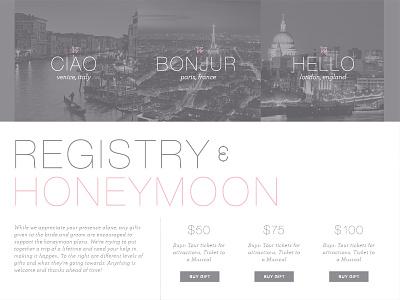 Wedding Site web design