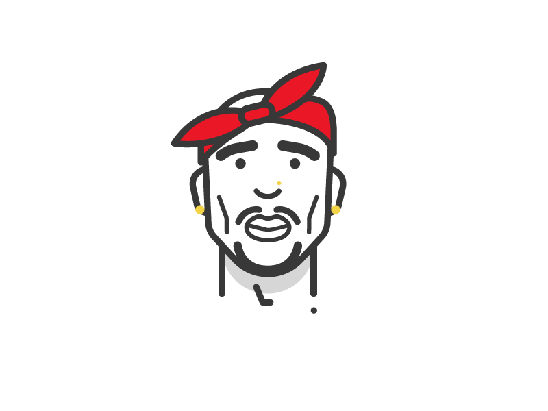 tupac by mike lara dribbble dribbble
