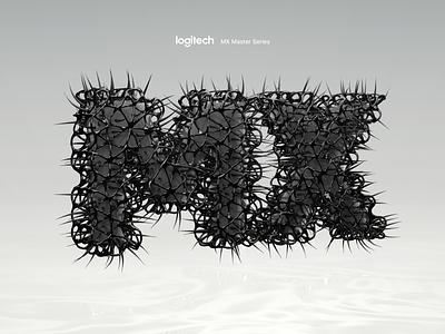 Logitech - MX Master Series art contest branding concept blender c4d logo dark grid text type 3d