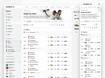 Scores24: Coefficients betting sport sports app sports statistics sports ui sports chats sports feed sport interface sports interface