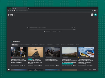 Echo: News & Comments extension google search echo browser browser extension comments newsfeed news