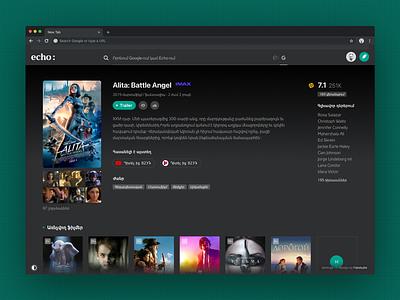 Echo: Cinema newsfeed news app news trailer google browser echo film kinopoisk cinema extension browser extension