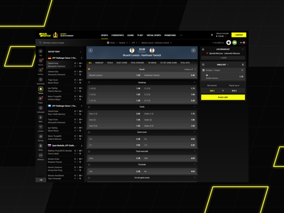 Parimatch: Tennis Match odds betslip webui mobile onlinecasino bookmaker 1xstavka ligastavok bwin fonbet tennis sportsfeed gambling betting parimatch pm interface ux ui sportsbook