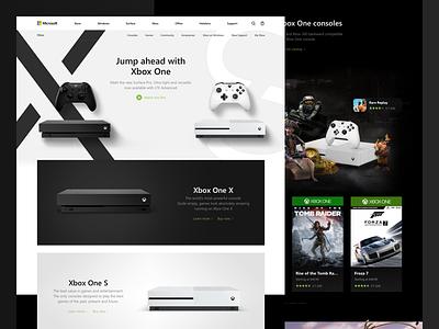 Microsoft: Xbox One Consoles concept redesign landing microsoft xbox one x dark black game