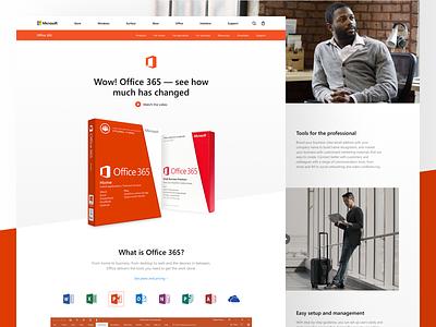 Microsoft: Office 365 concept redesign landing microsoft office 365 windows