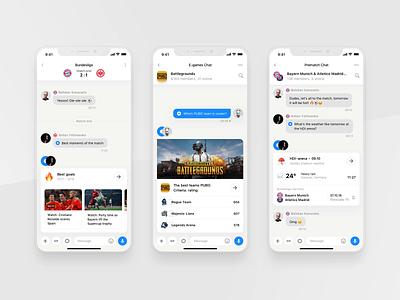 Rewind: Chatbot app light dark match football chat widget sport bot sport book sport app chat bot bot betting bet