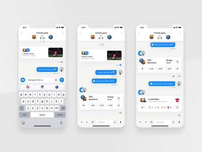 Rewind: Game chat clean dark light football widget live sport book sport app match chat bot chat bot betting bet