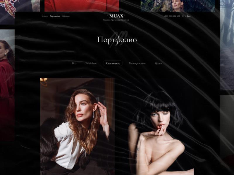 MUAX: Portfolio page portfolio services black muax artist makeup fashion education beauty