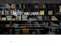 Tomahawk Redesign website quartz composer tomahawk music app animation parallax video