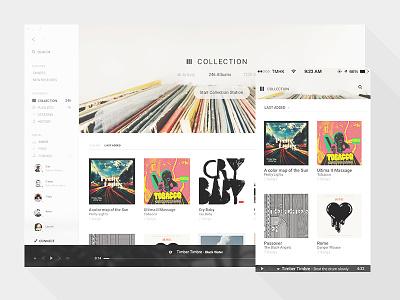 Tomahawk Collection view desktop mobile app music