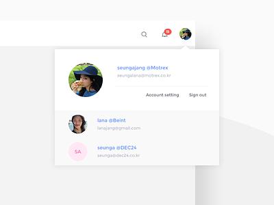 Switch accounts ux ui notification setup profile switching setting account