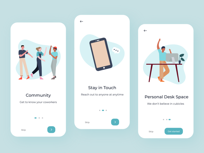 Onboarding Screens onboarding interface illustration android ios minimal adobe xd ux mobile colors app ui design
