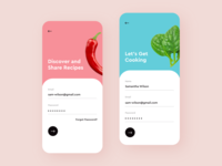 Recipe Sharing App android iphone colors clean adobe xd sharing app design mobile app mobile ios social food recipe app ux ui design
