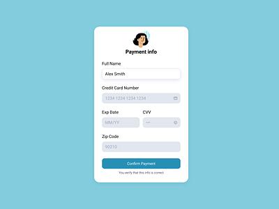 💳 Credit Card Form blushillustration figma blush form account ui design