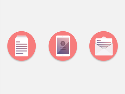 Office Icons illustrator design illustration icons flat colors