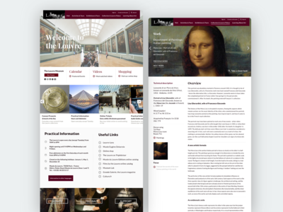 The Louvre Website Redesign