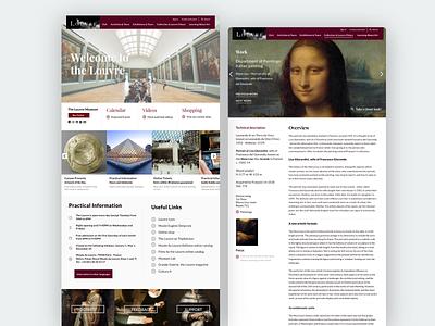 The Louvre Website Redesign site purple paris ux museum modern landing content design website design art website