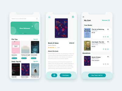 Book Donation App figma creative visual design ios mobile colors app design ux ui