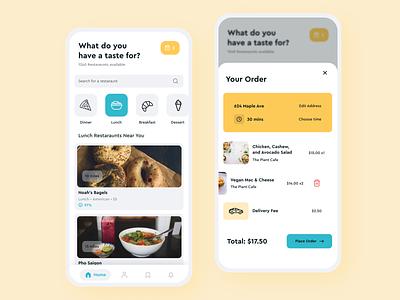 Food Delivery App 🍕 food app mobile design mobile ui mobile app delivery app mobile clean colors visual design food delivery app android figma ux food ui design