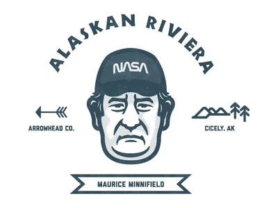 Maurice Minnifield maurice minnifield northern exposure alaska logo badge design badge vector illustration illustrator