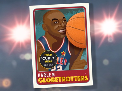 Curly Neal sports illustration basketball card trading card curly curly neal adobe illustrator illustration illustrator vector sports basketball
