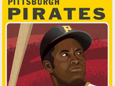 Roberto Clemente mlb major league baseball baseball art roberto clemente sports art pittsburgh pirates baseball design vector sports illustration illustrator