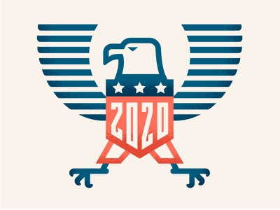 Eagle 2020 usa america united states election 2020 vote bird eagle illustrator illustration